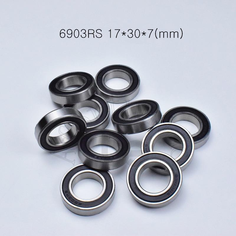 6903RS 17*30*7(mm) 10piece Bearing Abec-5 Rubber Sealed Bearing Thin Wall Bearing 6903 6903RS Chrome Steel Bearing
