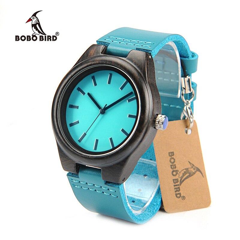 BOBO BIRD Brand Women Watches Black Wooden Wristwatches Female Clock Japan Movement Lady Quartz Watch relogio