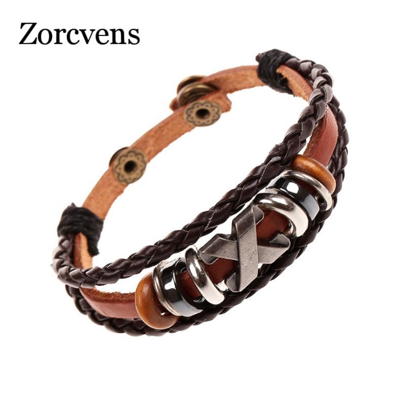 Zorcvens Fashion Multilayer Bracelet For Woman Female Charm Braided Leaf Bead Stone Bracelets Bangles Wedding Jewelry Bracelets & Bangles