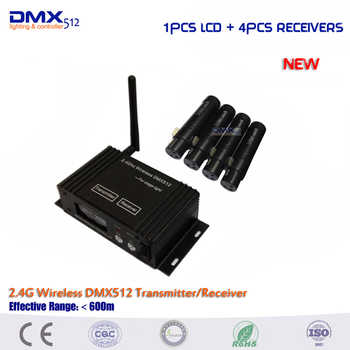 Dhl free shipping New 1pcs 2.4Ghz LCD Display dmx wireless transmitter and 4pcs Female DMX Receiver - DISCOUNT ITEM  17 OFF Lights & Lighting