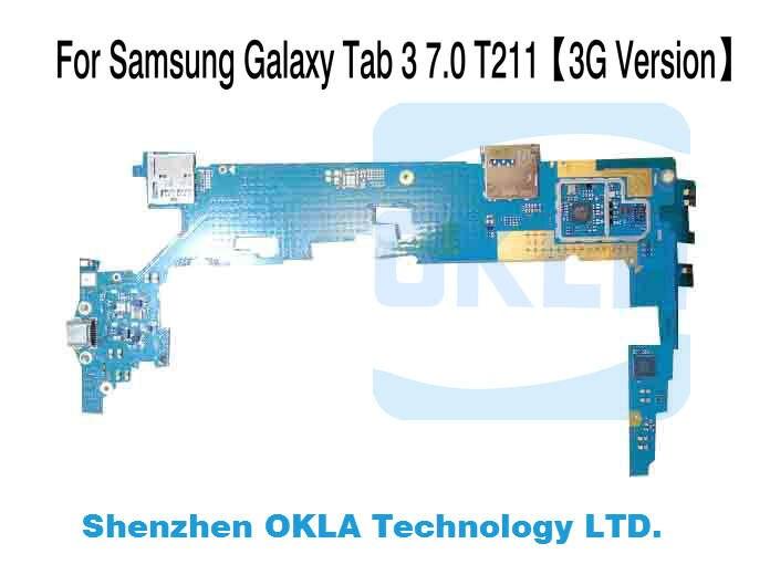 imágenes para 1 unids Para Samsung Galaxy Tab 3 7.0 T210 T211 1G Sustitución de La Placa Lógica Motherboard RAM 8G ROM original teléfono