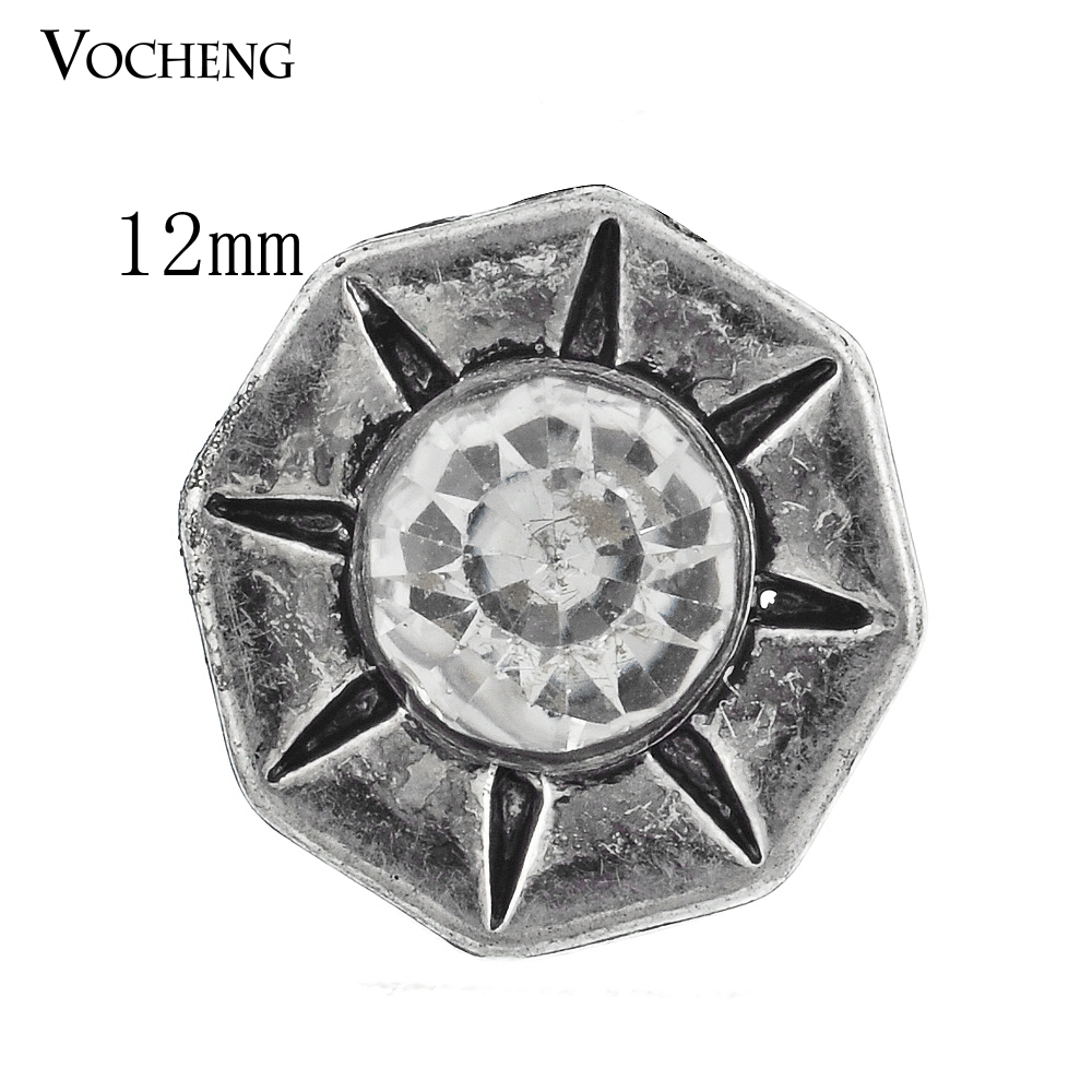 Vocheng 4 Colors Small 12mm Snap Interchangeable Jewelry Custom Button Vn-487
