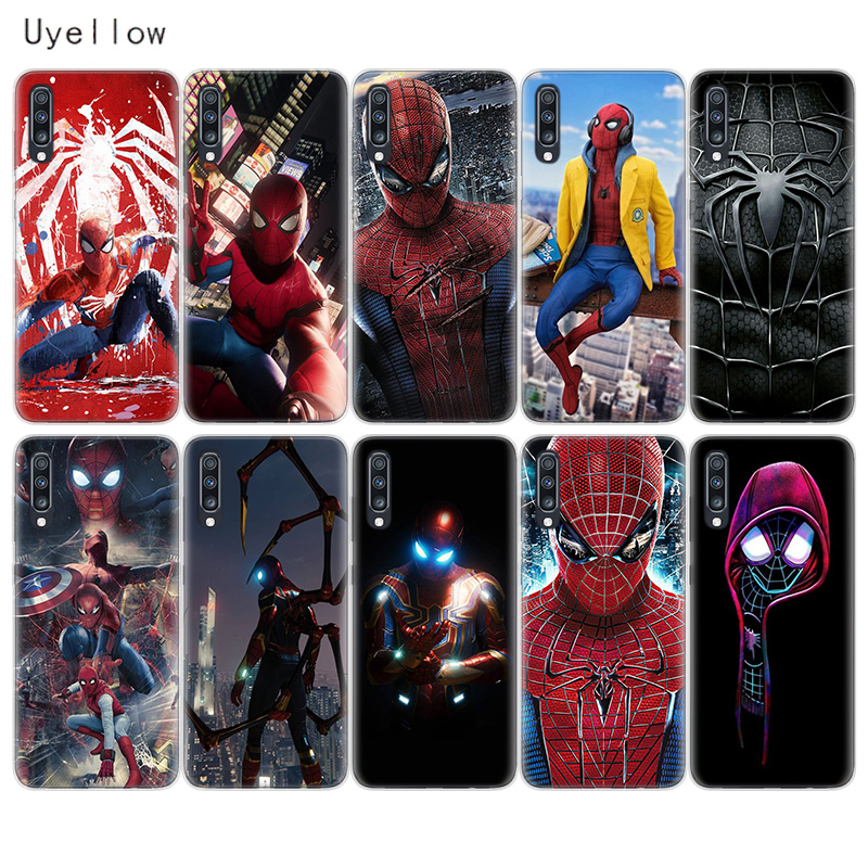 Uyellow Spiderman Marvel TPU Phone Case For Samsung A10 A20 A30 A40 A50 A60 A70 A80 A20E Cover For Galaxy M10 M20 M30 M40 Coque in Fitted Cases from Cellphones Telecommunications