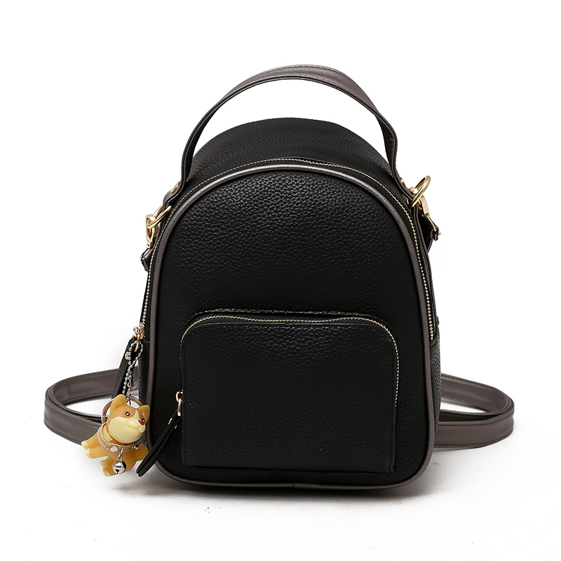 Backpack Women Fashion PU Leather Female Backpacks 2018 Small Bags for Girls Zipper Solid Women Bags Teenage Girls Shoulder Bag sunny shop candy color cute shoulder bags with bear charm women small messenger bags zipper christmas gifts for teenage girls