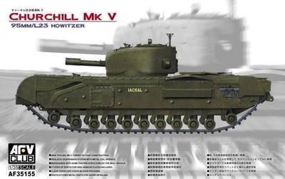 Afv clube 35155 1/35 tanque de infantaria CHURCHILL MK V britânico 95 MM / L23 HOWITZER