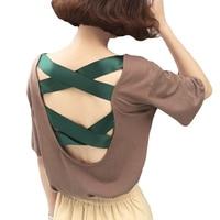 Summer Loose Women S Tops Clothing Fashion Big Size T Shirt Female Solid V Neck Short