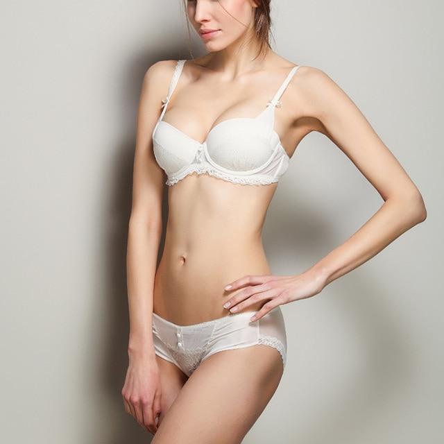 6bc0ffe3f62b39 S05 francuski styl Sexy i wygodne koronki push-up biustonosz i majtki komplety  bielizna damska