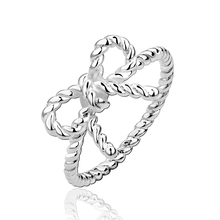 hot deal buy 925 silver ring with natural stone bowknot crystal platinum plated ring wedding rings gift for girl vintage diamond jewelry r611