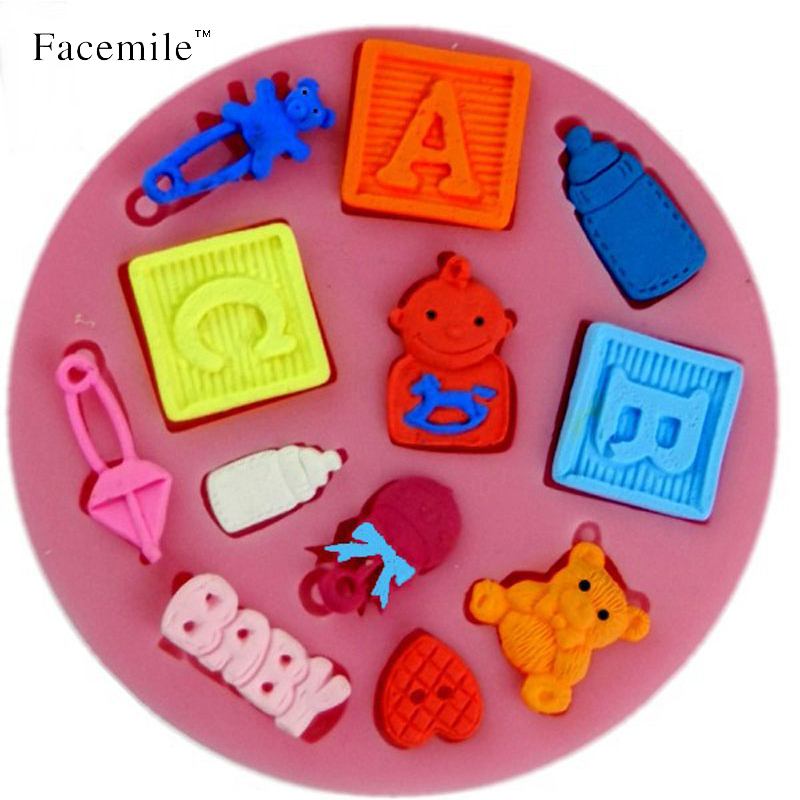 ABC Letter Baby Silicone Gift Chocolate Soap Pudding Jelly Candy Ice Cookie Biscuit Mold Mould Pan Bakeware 04104