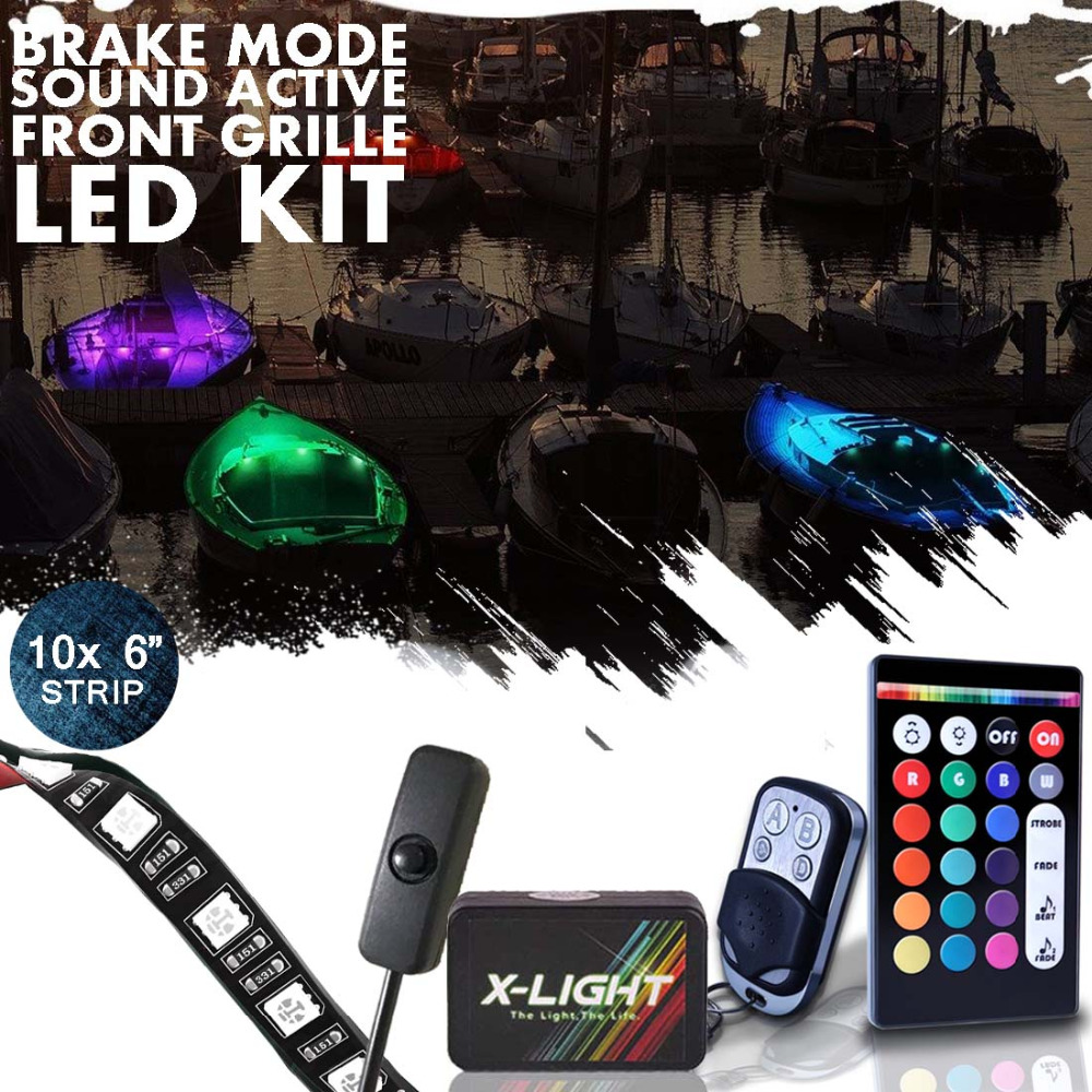 Neon Interieur Verlichting Us 59 99 10 St X Light Boot Interieur Glow Led Verlichting Kit Multi Color Accent Neon Strips 6