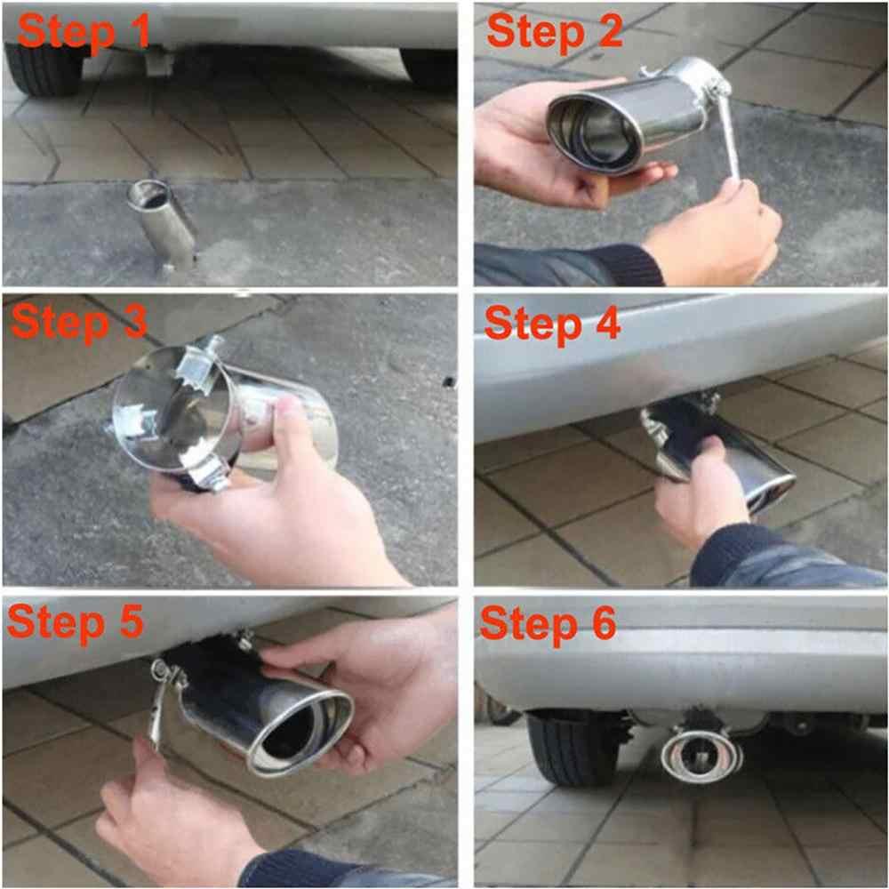 ユニバーサル車の排気マフラー先端ステンレス鋼管クロームエキゾーストテールマフラーtipパイプ銀