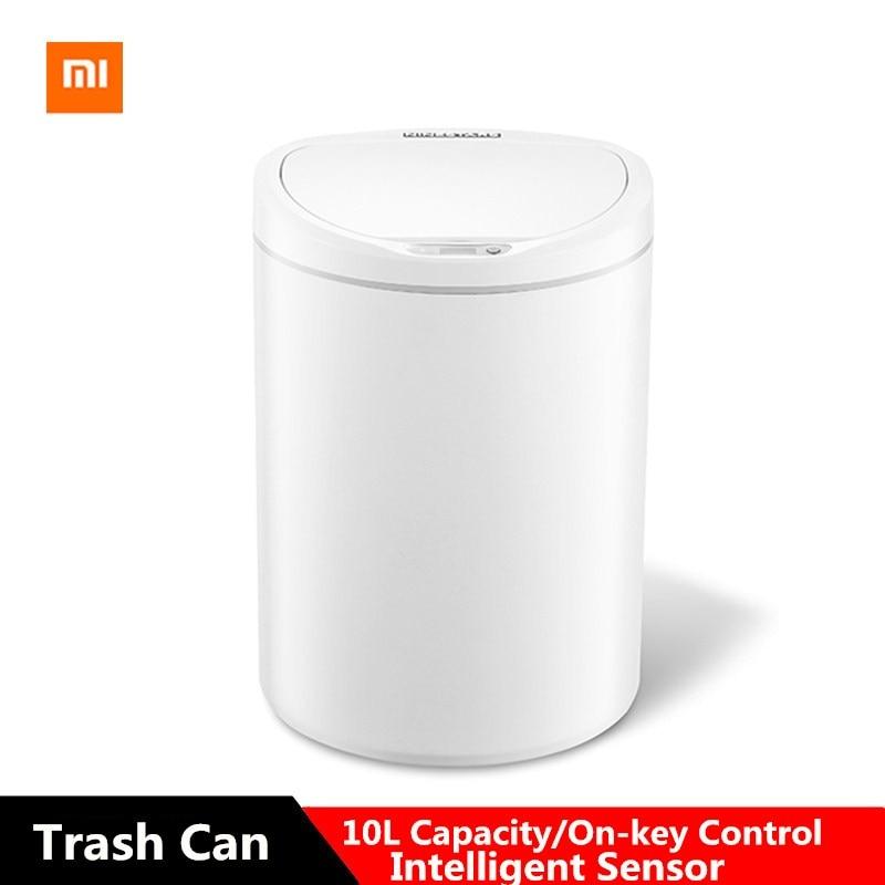 Xiaomi Intelligent Sensor Trash Can 10L Capacity On-key Control Adjustable Distance Energy Efficient Trash Bin For Home OfficeXiaomi Intelligent Sensor Trash Can 10L Capacity On-key Control Adjustable Distance Energy Efficient Trash Bin For Home Office