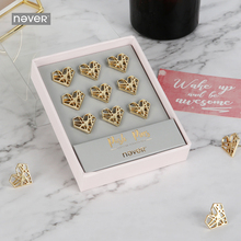 Metal Love heart Pin Board Cork Map Flag Push Pins gold Pin for fashion office