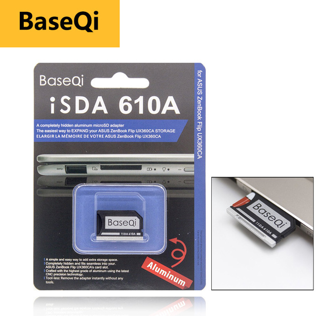 BaseQi smart card reader card pcmcia Micro SD Card 어댑터 대 한 Asus ZenBook Flip ux360CA compact flash 어댑터 mercedes benz xqd