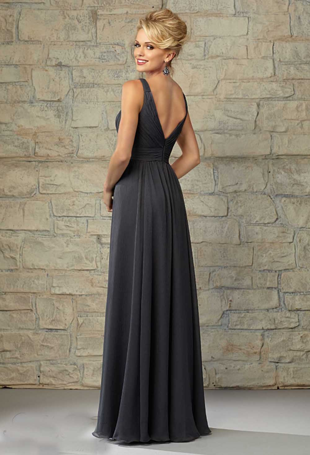 Aliexpress buy grey bridesmaid dresses free shipping sexy v aliexpress buy grey bridesmaid dresses free shipping sexy v neck v back pleat pink chiffon damask bridemaids dresses for wedding winter style from ombrellifo Image collections