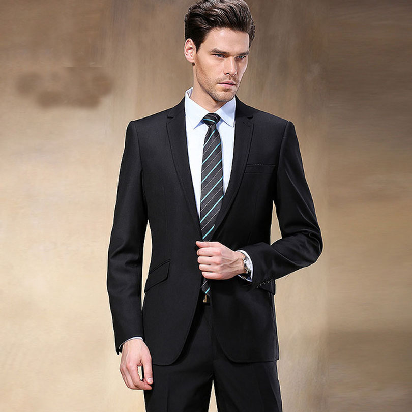 79207a4b653d9 New Western Style Black Color Men Business Suits Brand Boss Suit For ...
