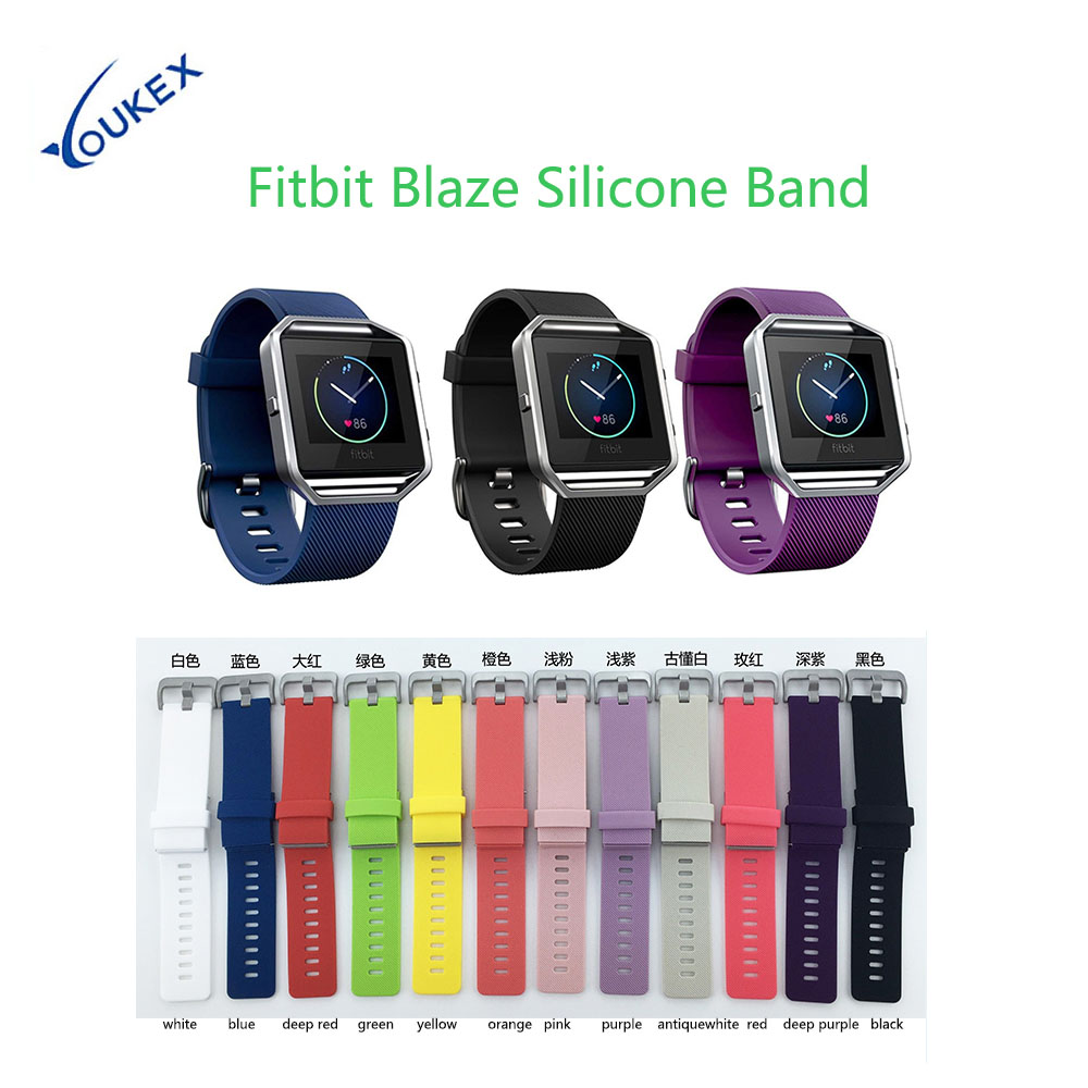 Various Colors Wrist Strap Silicone Replacement Sport Band for Fitbit Blaze Smart Fitness Watch silicone replacement wrist band strap bracelet for polar v800 sport smart watch t50p drop ship