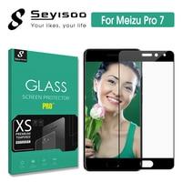 100% Original Seyisoo Premium 2.5D Volle Abdeckung Screen Protector Gehärtetem Glas Für Meizu Pro 7 Pro7 9 H 0 3mm HD Film