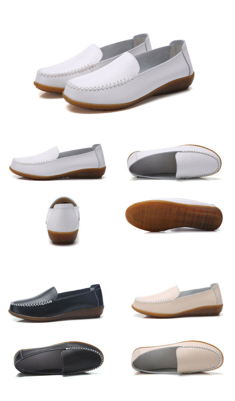 XY 518-2019 Genuine Leather Women's Shoes Soft Woman Loafers-17