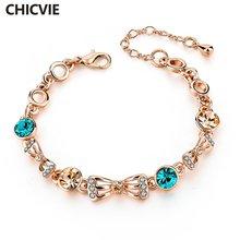 Chicvie винтажные браслеты золотого цвета и для женщин кристальная
