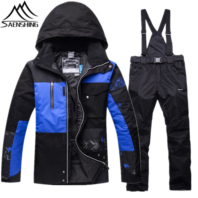 New Winter Ski Suit Men Snowboard Set Waterproof Super Warm Ski Jacket + Snow  Pants Male Thicken Outdoor Mountain Skiing Suits a43ce104d