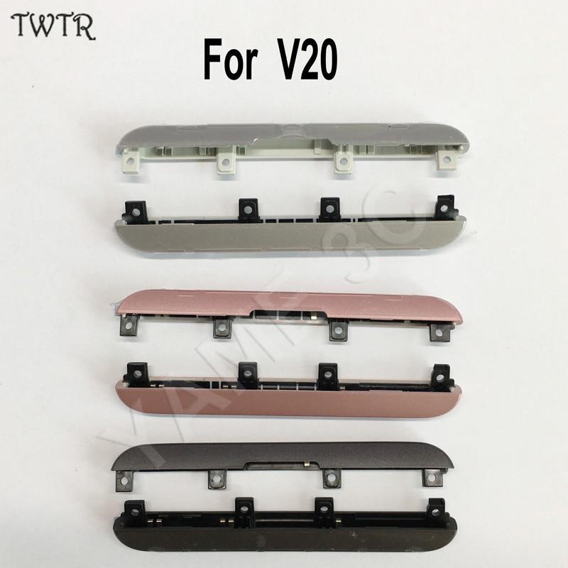 imágenes para TWTR Original Nueva Tapa de La Cubierta Superior E Inferior Conjunto Tapa Para LG V20 Todo Modelo Bisel Marco Frontal Carcasa Central