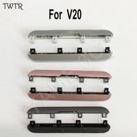 TWTR Originele Nieuwe Top Bottom Cover Cap Deksel Set Voor LG V20 Alle Model Bezel Front Behuizing Midden Frame