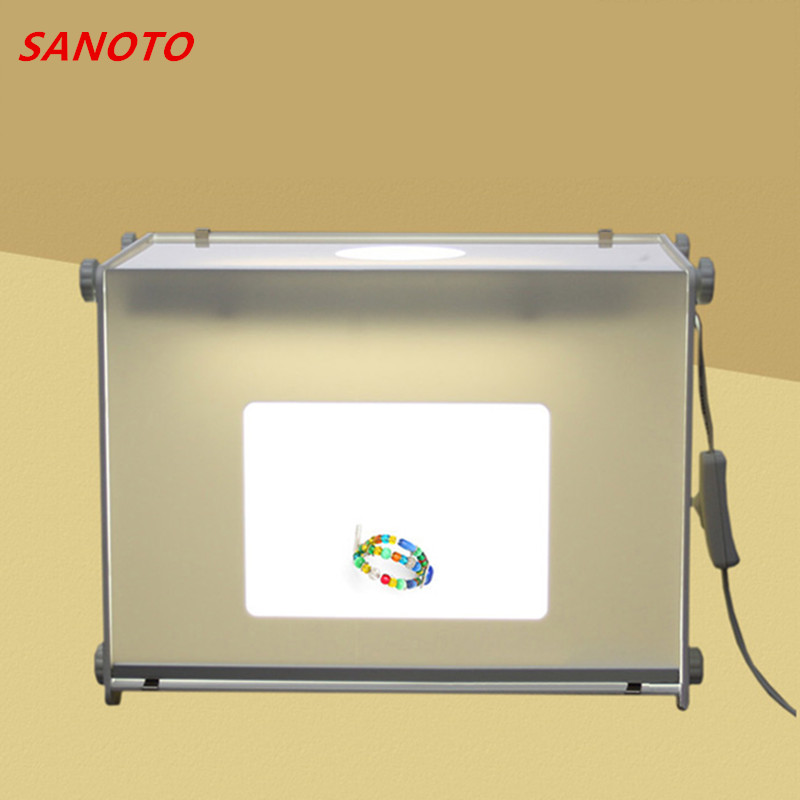 "SANOTO jenama 12 ""X8"" Portable Mini studio foto cahaya lembut lembut Peti Photo Box MK30 softbox lampu 110V / 220V"