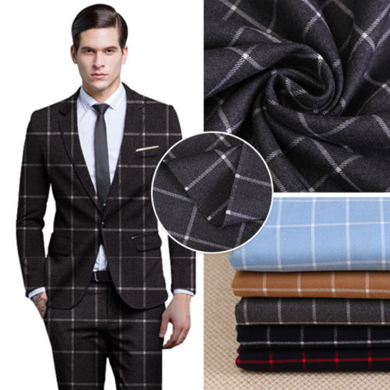 Custom Made Lattice Cloth Wedding Tuxedos Groom Suits Two Buttons Business Men Suits Wedding Suits Pant( Jacket+Pants) G608
