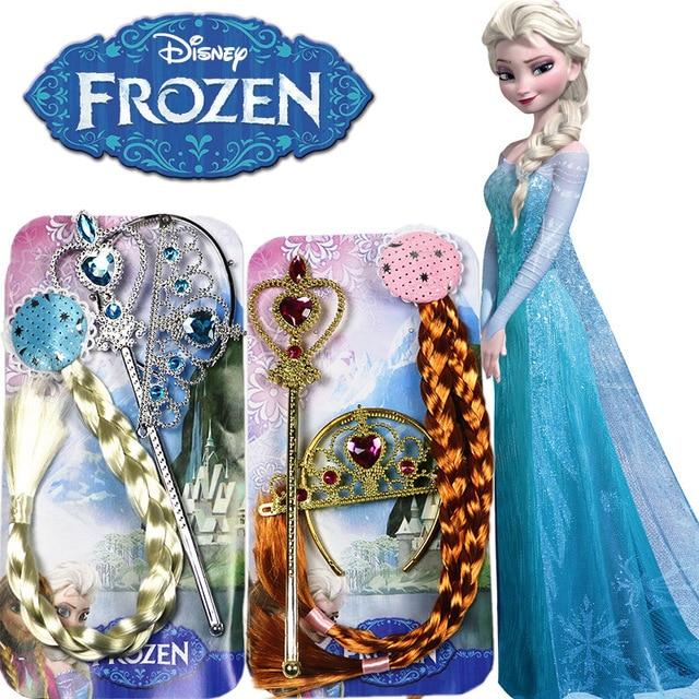 Regali Di Natale Frozen.Us 8 2 3 Pz Disney Toys Congelato Principessa Anna Elsa Treccia Parrucche Regali Di Compleanno Rifornimenti Del Partito Del Copricapo Bambini Natale