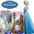 3 unids disney toys frozen princesa anna elsa trenza pelucas tocado fiesta kids christmas toys para niños regalos de cumpleaños
