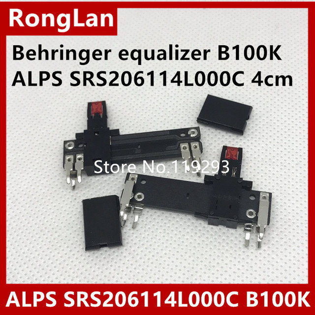 US $55 0  [BELLA]Behringer equalizer ALPS RS206114L000C 4cm/40MM Slide  Potentiometer B100K 11MM with light midpoint 50PCS/LOT-in Potentiometers  from