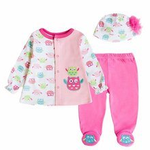 Cute 5pcs Cotton Long Sleeved Set