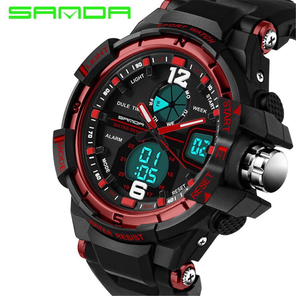 Sanda Women Sports Watches Ladies LED Digital Quartz Womens Fashion Brand Alarm Wrist Watches Clock Women Relogio Feminino 2017