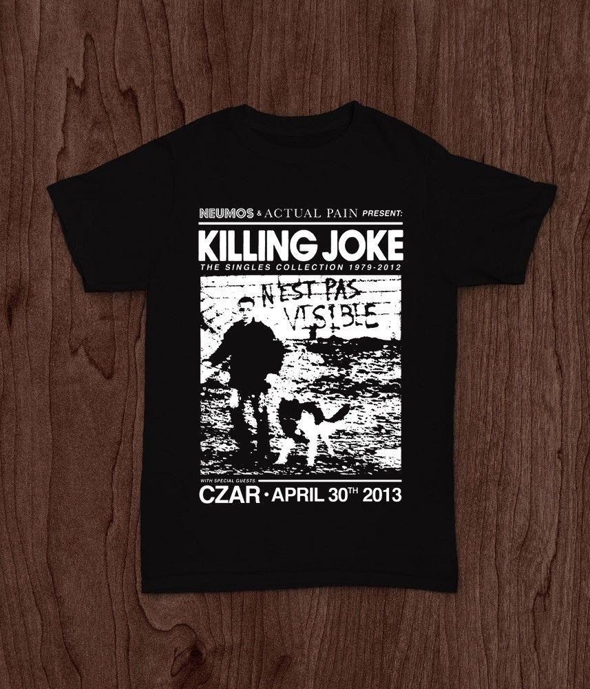 KILLING JOKE NEST PAS VISIBLE PUNK ROCK BAND BAUHAUS T-SHIRT TEE S M L XL 2XL