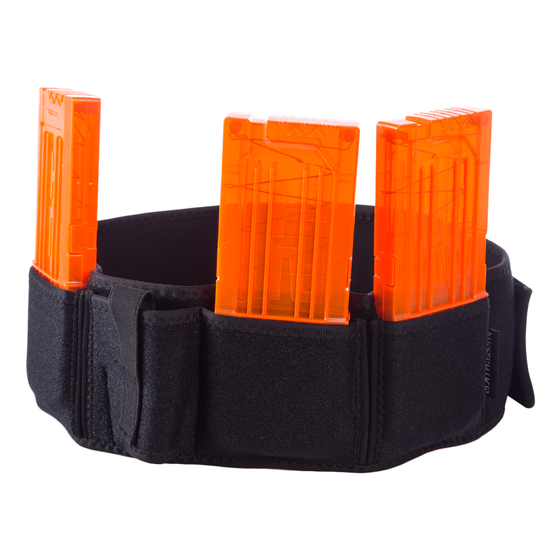 Rowsfire 1 Pcs Tactical Stretchy Belt Kit - with 3 Mag Pouch for Nerf Game Anything for Nerf Teenager (Black Belt+Orange Mag) аквабокс aquapac small stormproof pouch orange 036 page 3