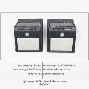 Image 4 - Wireless Solar Powered 35 LED Solar Light Waterproof IP65 PIR Motion Sensor Outdoor Fence Garden Light Pathway Solar  Wall Lamp