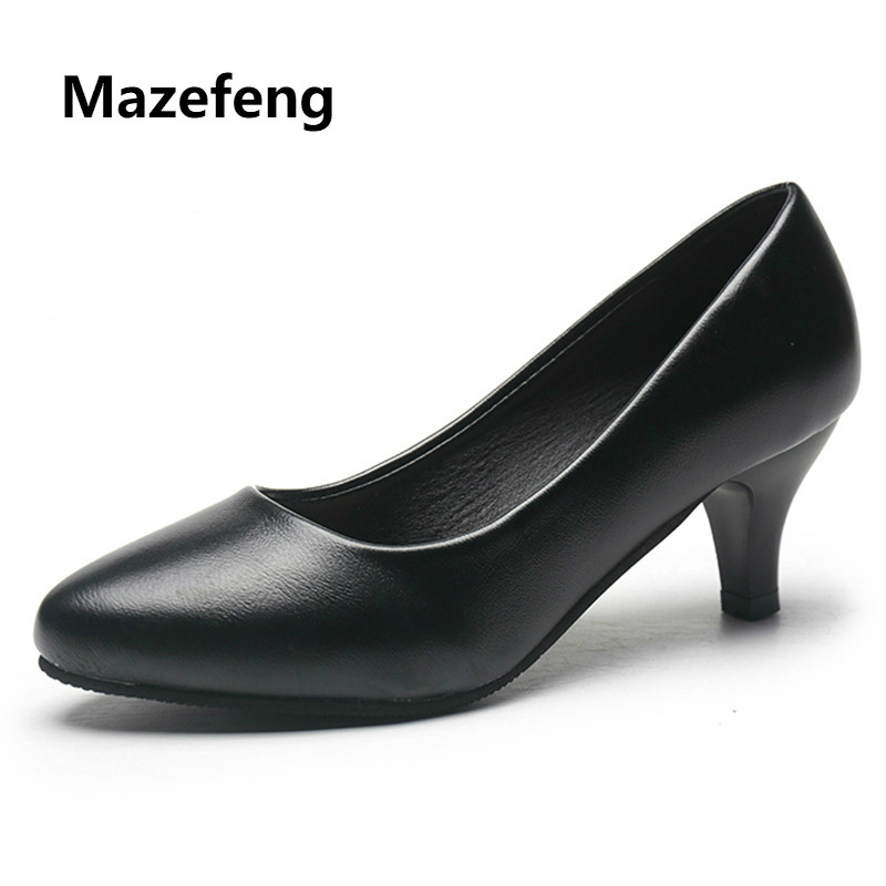 Mazefeng 2018 New Mature Style Women High-heeled Shoes