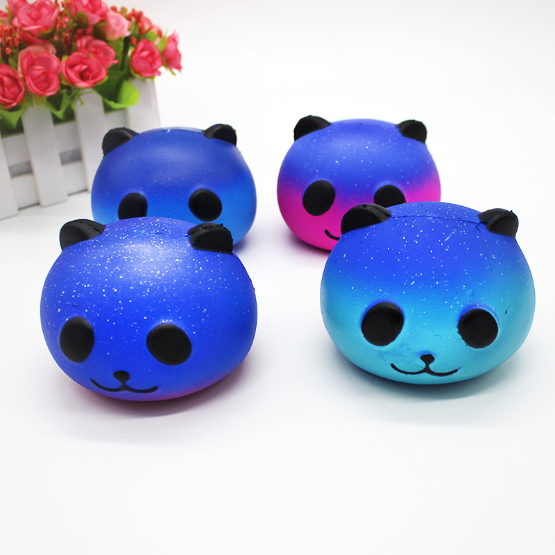 Anti-stress Squishy Slow Rising Galaxy Panda Squishes Peach Squishi Squishies Stress Relief Toy Funny Kids Gift PU Toy ...