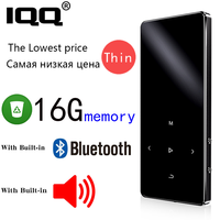 IQQ Neue Version MP3 Player mit bluetooth Lautsprecher touch screen und eingebaute 16G HiFi tragbare walkman mit radio/ FM/aufnahme