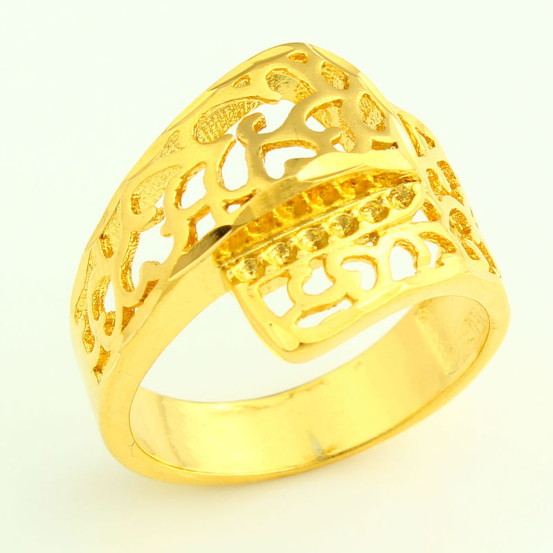 Luxury Ethiopian Wedding Gold Ring For Women 24k Color Trendy African India Kenya Middle East Item In Rings From Jewelry Accessories On