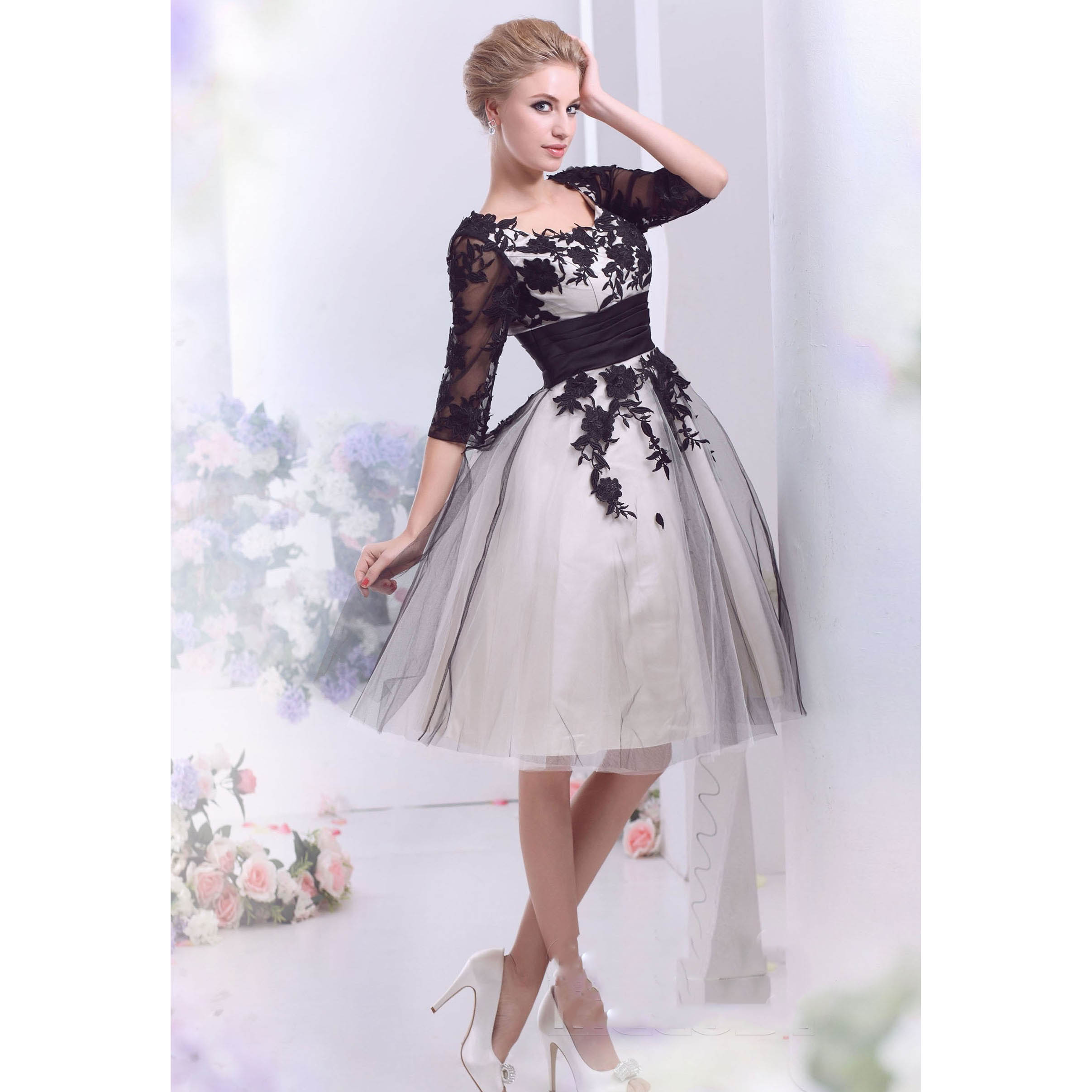 Good And Cheap Products Fast Delivery Worldwide Wedding Dress Knee