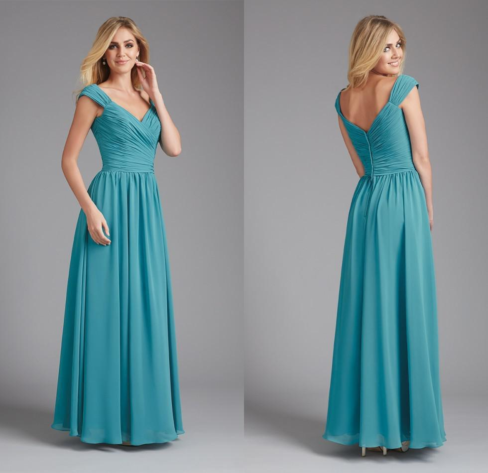 teal color bridesmaid dresses
