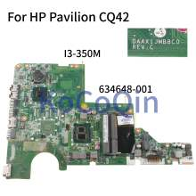 KoCoQin placa base para portátil HP Pavilion CQ42 CQ62 G42 G62 I3-350M placa base DAAX1JMB8C0 634648-001 634648-501(China)