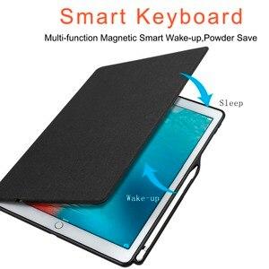Image 3 - Ipad pro 10.5 케이스 bluethooh 스마트 키보드 폴리오 스탠드 커버 ipad pro 10.5/ipad air 3 2019 커버 용 연필 홀더 케이스