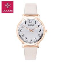 2017 Juilius Watch Kids Watch Women Watch Men Watch Couple Casual Fashion Simple Waterproof Leather clock