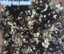 30g 4mm Grey color Flat Square loose sequins Paillettes sewing Wedding craft Good quality Free Shipping