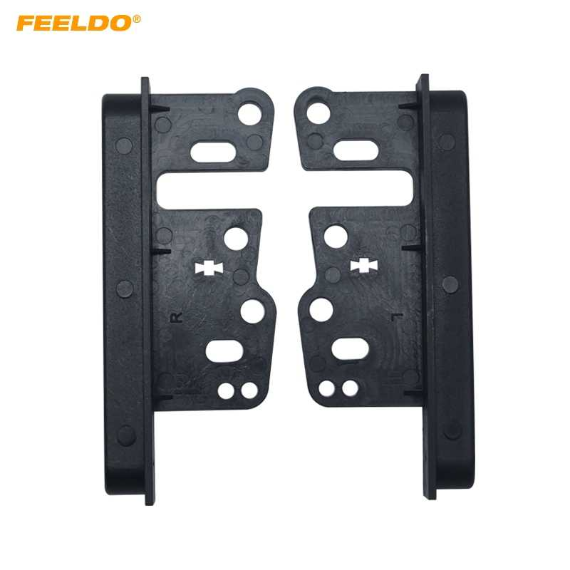 FEELDO 1 par soporte Universal para Toyota 2Din Radio Estéreo (202 * 102mm ~ 178*102mm) panel Fascia montaje Kit ajuste # FD-1662