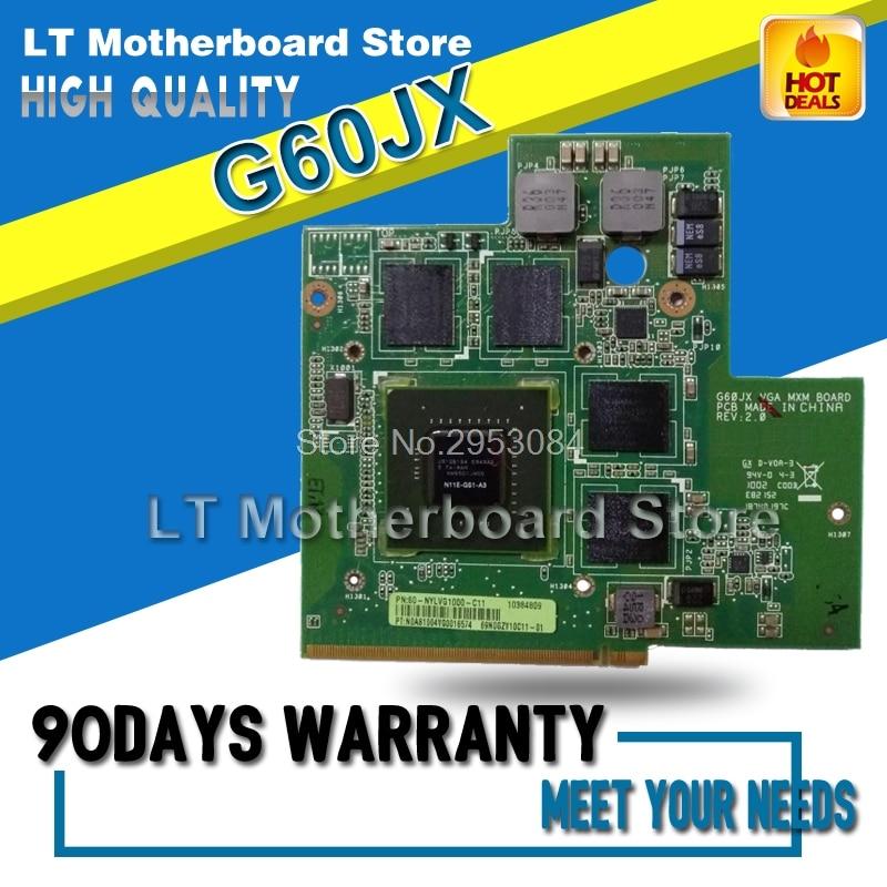 все цены на For ASUS G60JX G51JX GTX360M GTX 360M Graphic Card PN 60-NYLVG1000-C11 GTS360M N11E-GS1-A3 DDR5 1GB MXM VGA Video card Tested онлайн