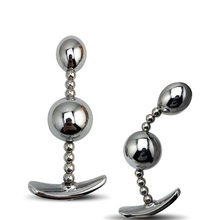New hot design  jewelry color 1 piece huge size metal anal ball beads butt plug dildo SM insert sex toy for men women couple